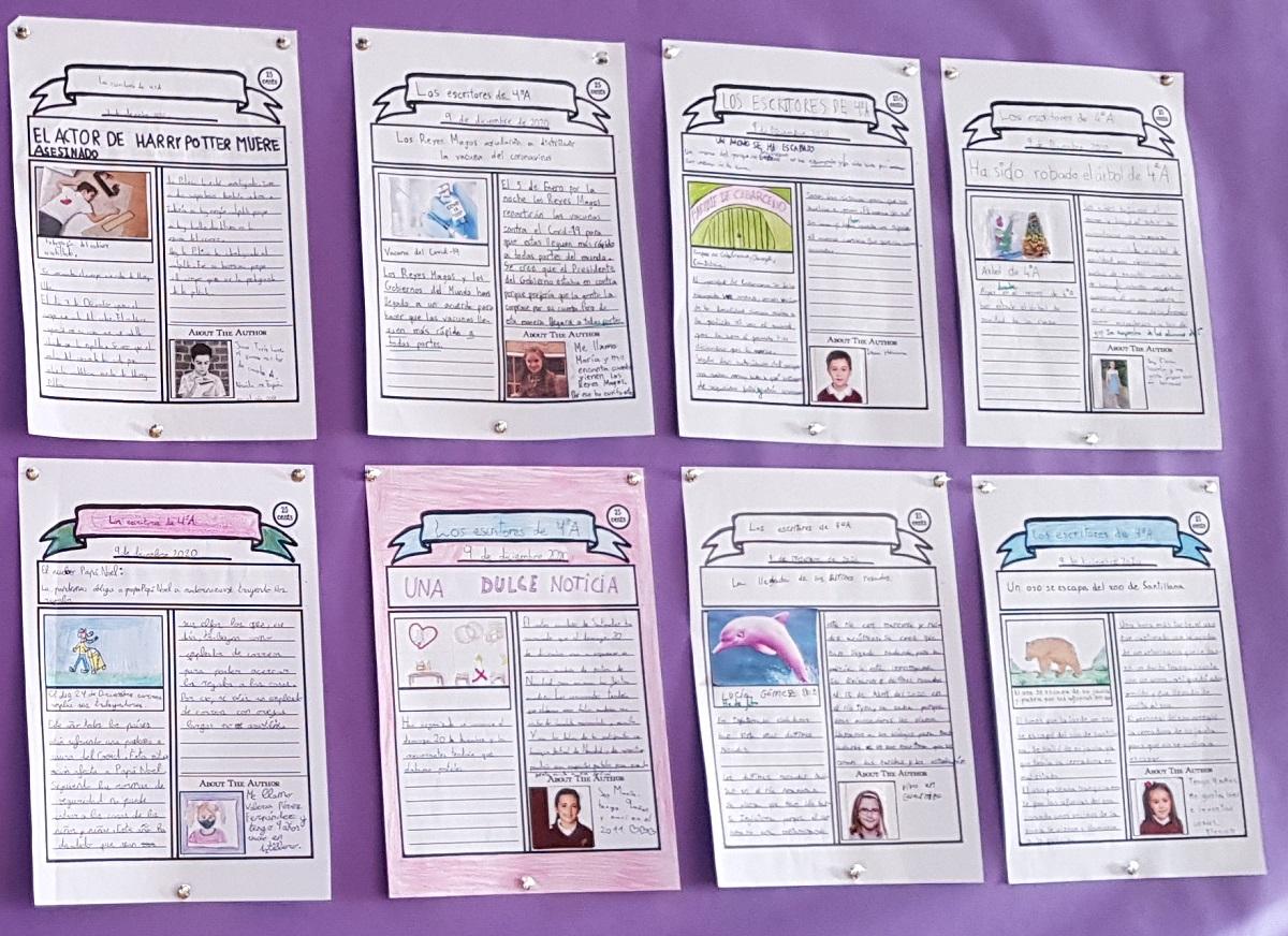Los chicos y chicas de cuarto crean su propio periódico