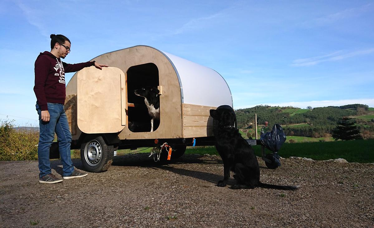 'Wood Teardrop', la caravana sostenible creada en Cantabria