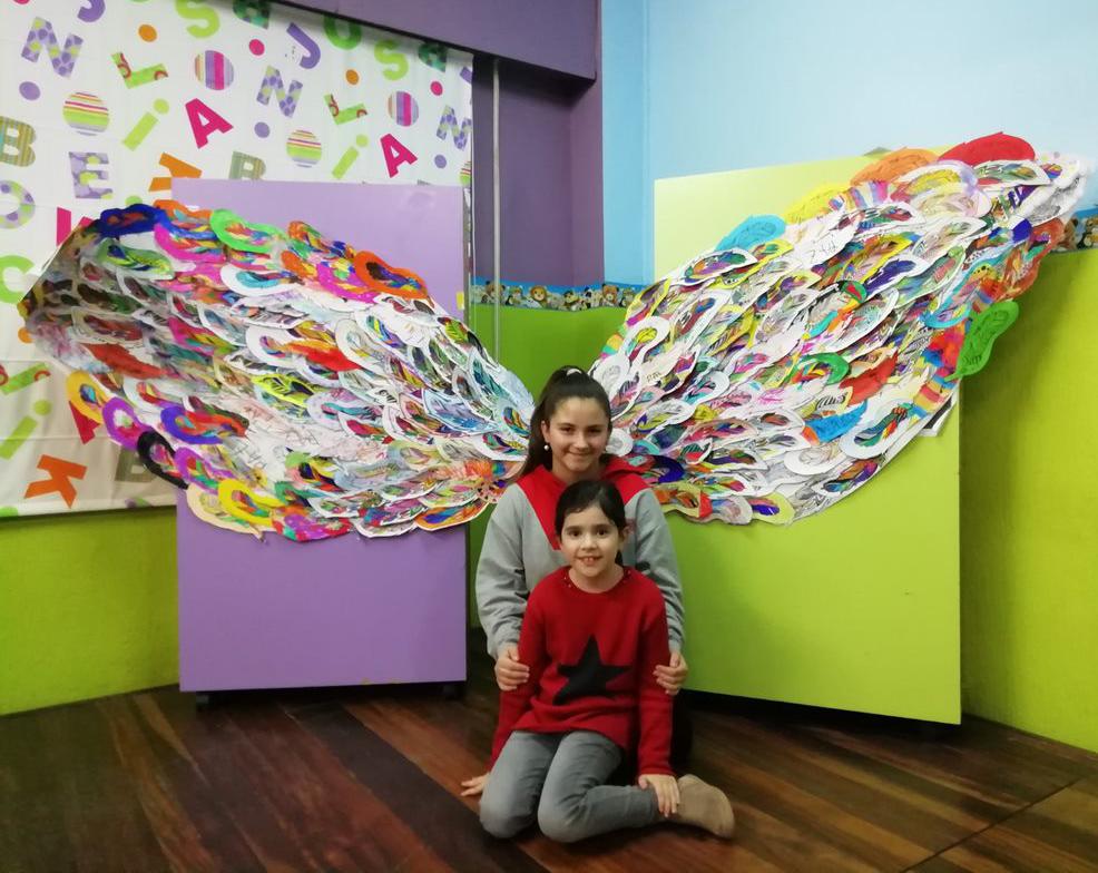 Alas gigantes para celebrar el Día de la Paz